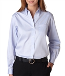 Van Heusen - Ladies' Long Sleeve Blended Pinpoint Oxford. V0110