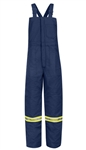 Bulwark - Flame-Resistant Deluxe Insulated Bib Overall with Reflective Striping. BLCT