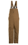 Bulwark - Flame-Resistant Brown Duck Insulated Bib Overall. BLN4