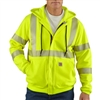 Carhartt - Men's Flame-Resistant Heavyweight High-visibility Class 3 Hooded zip-front sweatshirt. 100460