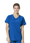 Carhartt Scrubs - CROSS-FLEX Women's Y-Neck Fashion Top. C12210