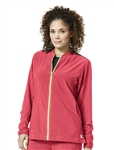 Carhartt Scrubs - Women's Knit Mix Zip Front Jacket. C82310