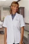 "Fashion Seal - Ladies' 30 1/4"" Short Sleeve Lab Coat. 105"