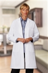 "Fashion Seal - Ladies' 39.5"" Traditional Length Lab Coats. 400"