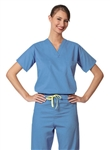 Fashion Seal - Unisex Ciel Blue FB Rev Set-in Scrub Shirt CM. 6780