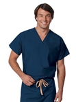 Fashion Seal - Unisex Reversible Navy Set-In Sleeve Scrub Shirts - TALL. 6802