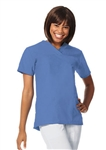Fashion Seal - Ladies Ciel Blue FB V-neck Yoke Scrub Tunic. 7582
