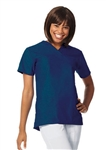 Fashion Seal - Ladies Navy FB V-neck Yoke Scrub Tunic. 7589