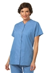 Fashion Seal - Ladies Ciel Blue FB Snap Front Tunic. 7727