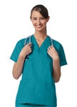 Fashion Seal - Unisex Teal FB Rev 4Pkt Scrub Shirt. 7892