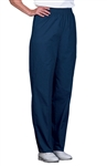 Fashion Seal - Ladies Navy FB Elastic Waist Slacks. 876