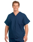 Fashion Seal - Non-reversible Navy Extra Long Cap Slv Scrub Set. FS-SCRUBSET12