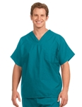 Fashion Seal - Non-reversible Teal Extra Long Cap Slv Scrub Set. FS-SCRUBSET13