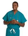 Fashion Seal - Unisex Reversible Teal FP Scrub Set. FS-SCRUBSET21