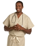 Fashion Seal - Unisex Non-reversible Tan Extra Long Cap Slv Scrub Set. FS-SCRUBSET24 - TALL