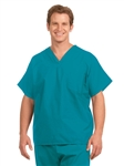Fashion Seal - Unisex Non-reversible Teal Extra Long Cap Slv Scrub Set. FS-SCRUBSET25