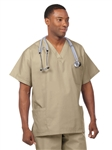 Fashion Seal - Unisex Multiple Utility Pocket Tan Scrub Set . FS-SCRUBSET28