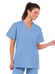 Fashion Seal - Ladies Ciel V-neck Tunic Flash Slacks Scrub Set. FS-SCRUBSET34 - PETITE