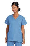 Fashion Seal - Ladies Ciel Mock Crossover Tunic Scrub Set. FS-SCRUBSET38 - PETITE