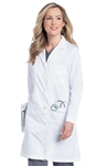 "Landau - Women's 38"" Lab Coat with Four Button Closure. 3153"