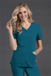 Smitten - Glam Women's Surplice Tunic Scrub Top. S101033
