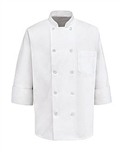 Red Kap - Ten Pearl-Button Chef Coat. 0400WH