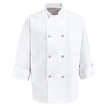 Red Kap - Men's Eight Pearl-Button Chef Coat. 0403WH