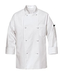 Red Kap - Men's 100% Cotton Chef Coat. 0440WH