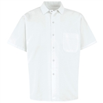 Red Kap - Men's White Spun Poly Short-sleeve cook Shirt. 5035WH
