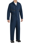 Red Kap - Men's Zip-Front Navy Cotton Coverall. CC18NV