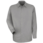 Red Kap - Men's Lt Grey Long-Sleeve Specialized No Pocket Shirt. SP16LA