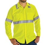 Red Kap - Long-Sleeve Hi-Visibility Ripstop Work Shirt Class 2 Level 2. SY14HV