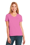 Hanes - Ladies ComfortSoft V-Neck T-Shirt. 5780