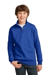 JERZEES -Youth 1/4-Zip Cadet Collar Sweatshirt.995Y