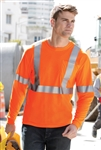CornerStone - ANSI 107 Class 2 Long Sleeve Safety T-Shirt. CS401LS