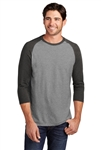 District Made - Men's Perfect Tri 3/4-Sleeve Raglan. DM136