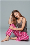 District - Juniors Flannel Plaid Pant. DT2800