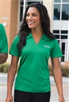 Sport-Tek - Ladies Dri-Mesh V-Neck Polo. L469