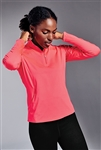 Sport-Tek - Ladies Sport-Wick  Stretch 1/2-Zip Pullover. LST850