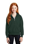 Hanes - Youth ComfortBlend EcoSmart Full-Zip Hooded Sweatshirt. P480