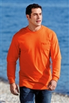 Port & Company - Long Sleeve Essential T-Shirt with Pocket.  PC61LSP