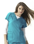 WonderWink - Four Stretch Sporty V-Neck Scrub Top. 6214