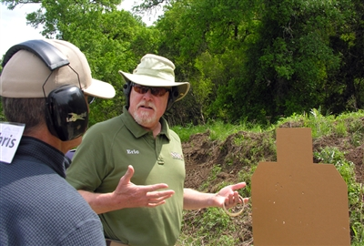 A private class can take students from their first experience with a handgun through intermediate and advanced level. This is a private class for 1-2 student