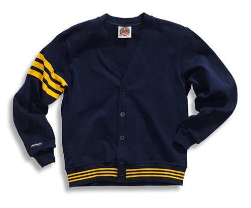 Barbarian Classic Navy / Gold Cardigan