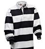 "Barbarian Casual White / Black 4"" Stripe"