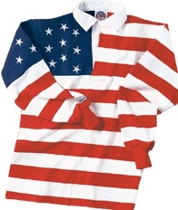 Barbarian Classic Short Sleeve US Flag Rugby