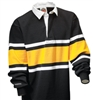 Barbarian Classic Black / White / Gold Collegiate Stripe