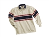 Barbarian Classic Ivory / Scarlet / Navy Acadia Stripe