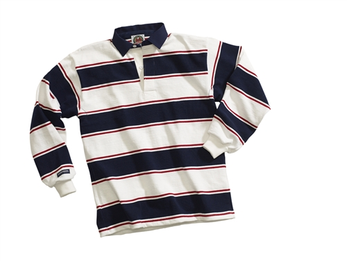 Barbarian Classic White / Dark Red / Navy Soho Stripe