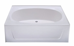 "60 "" x 42 "" Garden Tub No Step Fiberglass"